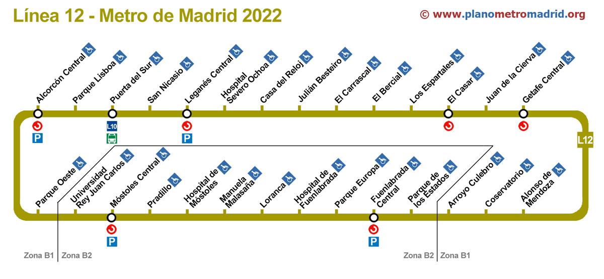 Mapa metro Madrid  Mapa Metro