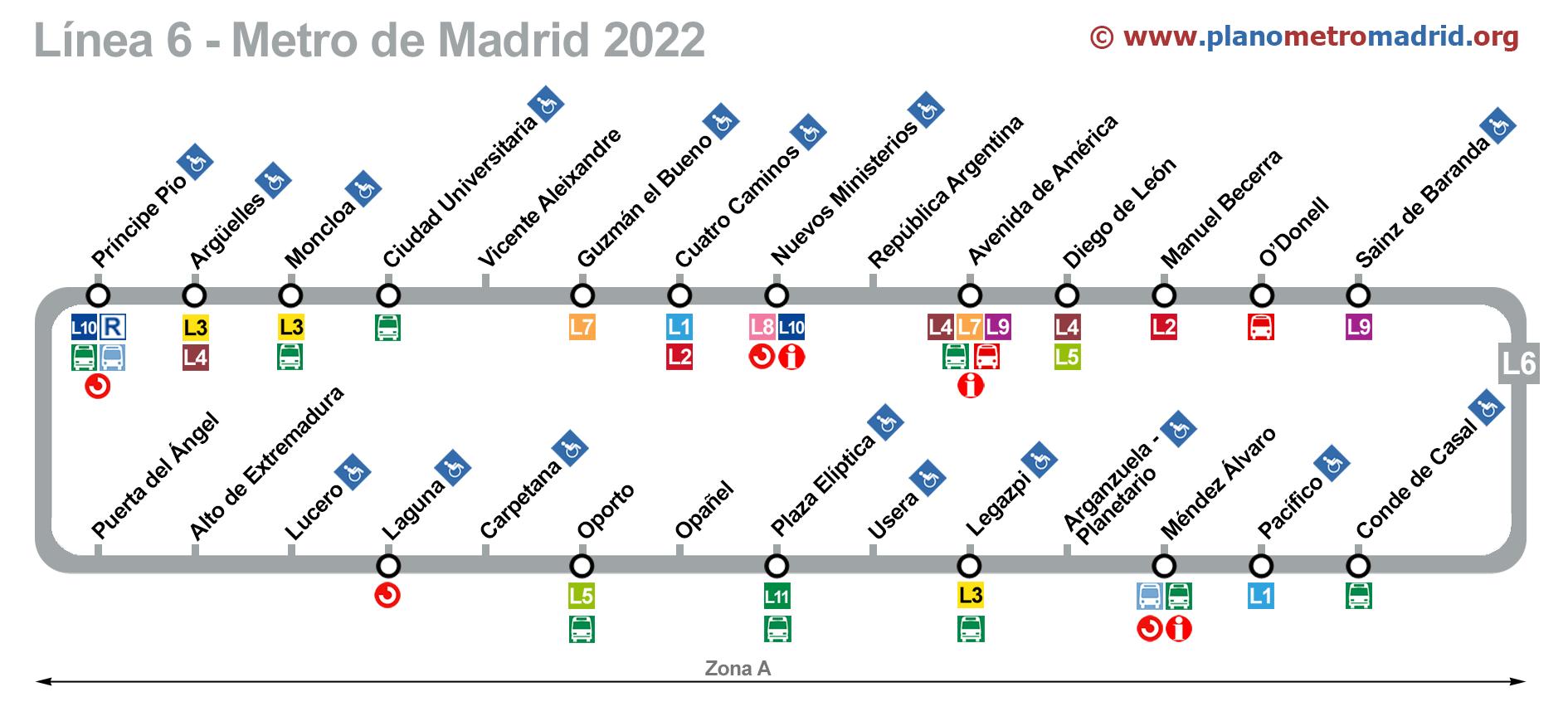 Metro De Oporto Mapa.Linea 6 Del Metro De Madrid Circular L6 Actualizado En 2020