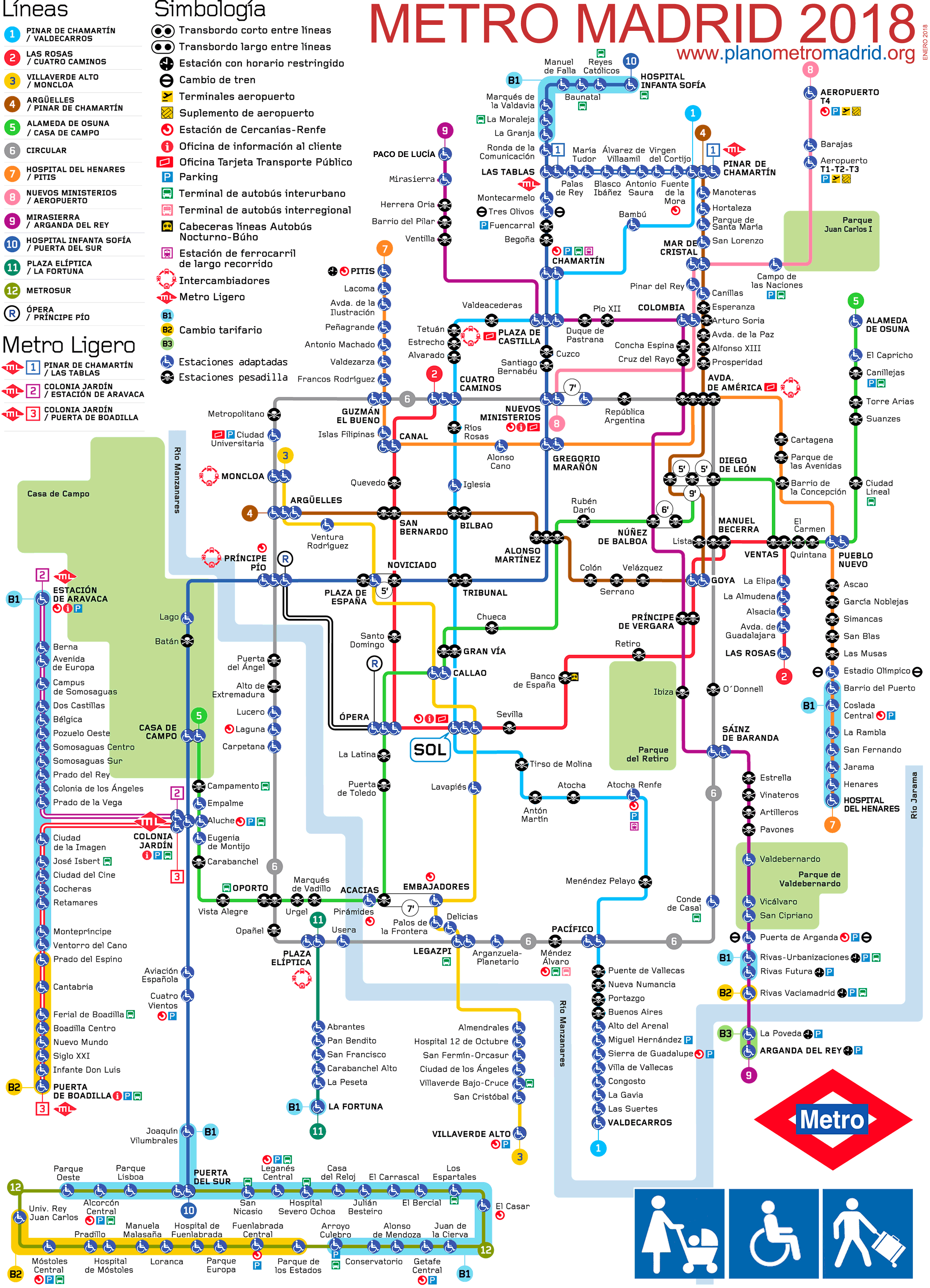 madrid metro and line (normal map, with the metro lines and stations, according to the actual  about a  particular line, here are the individual maps of the madrid subway lines, listed.