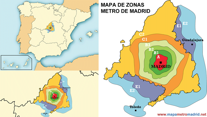 Madrid zone map